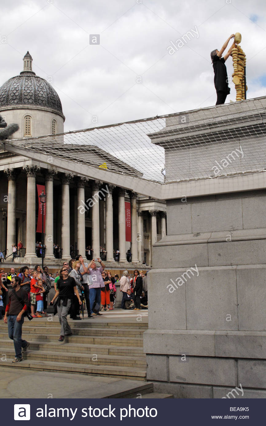 Art on the 4th Plinth at Trafalgar Square, London - Stock Image