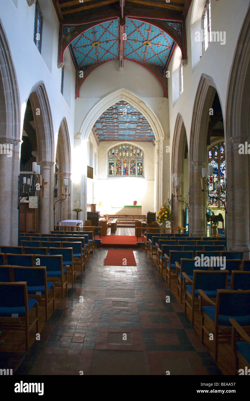 Parish Church of St Gregory Sudbury Suffolk England - Stock Image