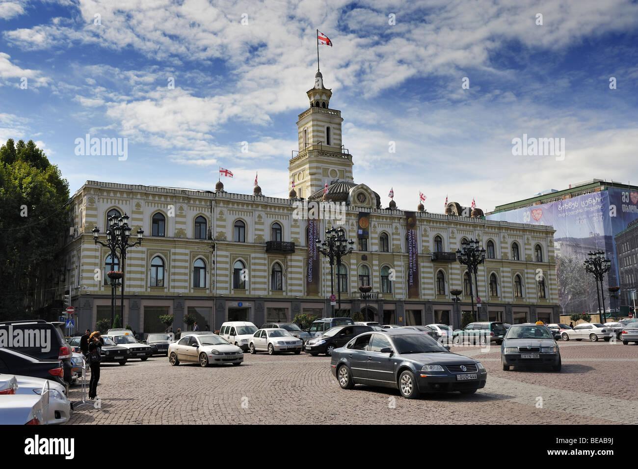 townhall or municipality of Tbilisi, Georgia - Stock Image