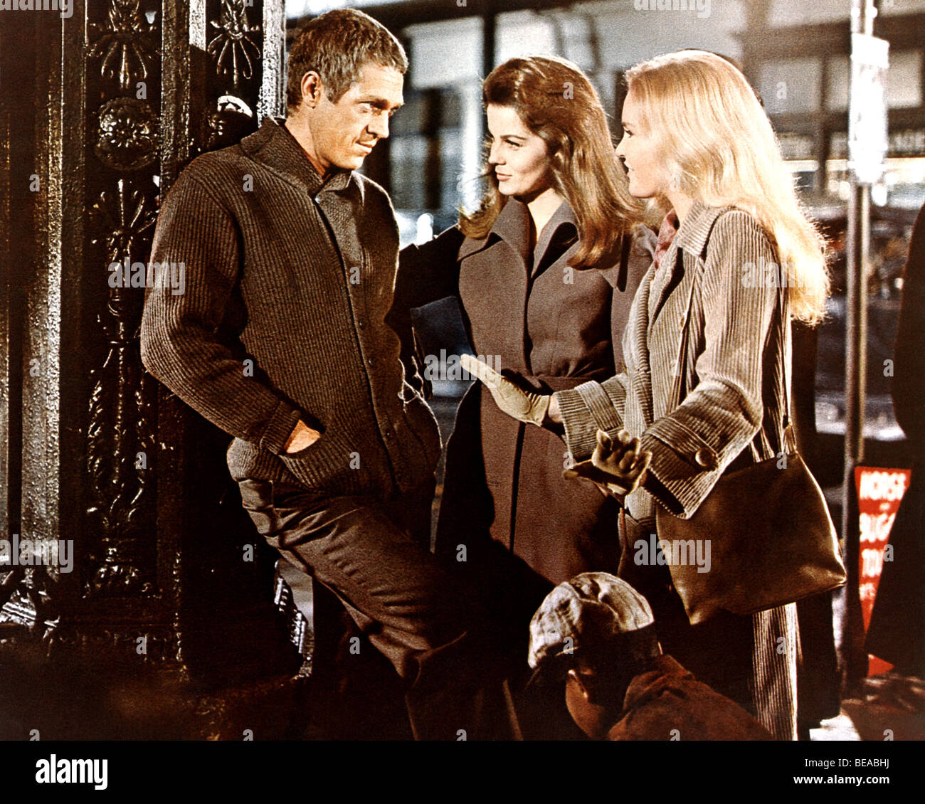 CINCINNATI KID  - 1965 MGM film with from left: Steve McQueen, Ann-Margret and Tuesday Weld - Stock Image