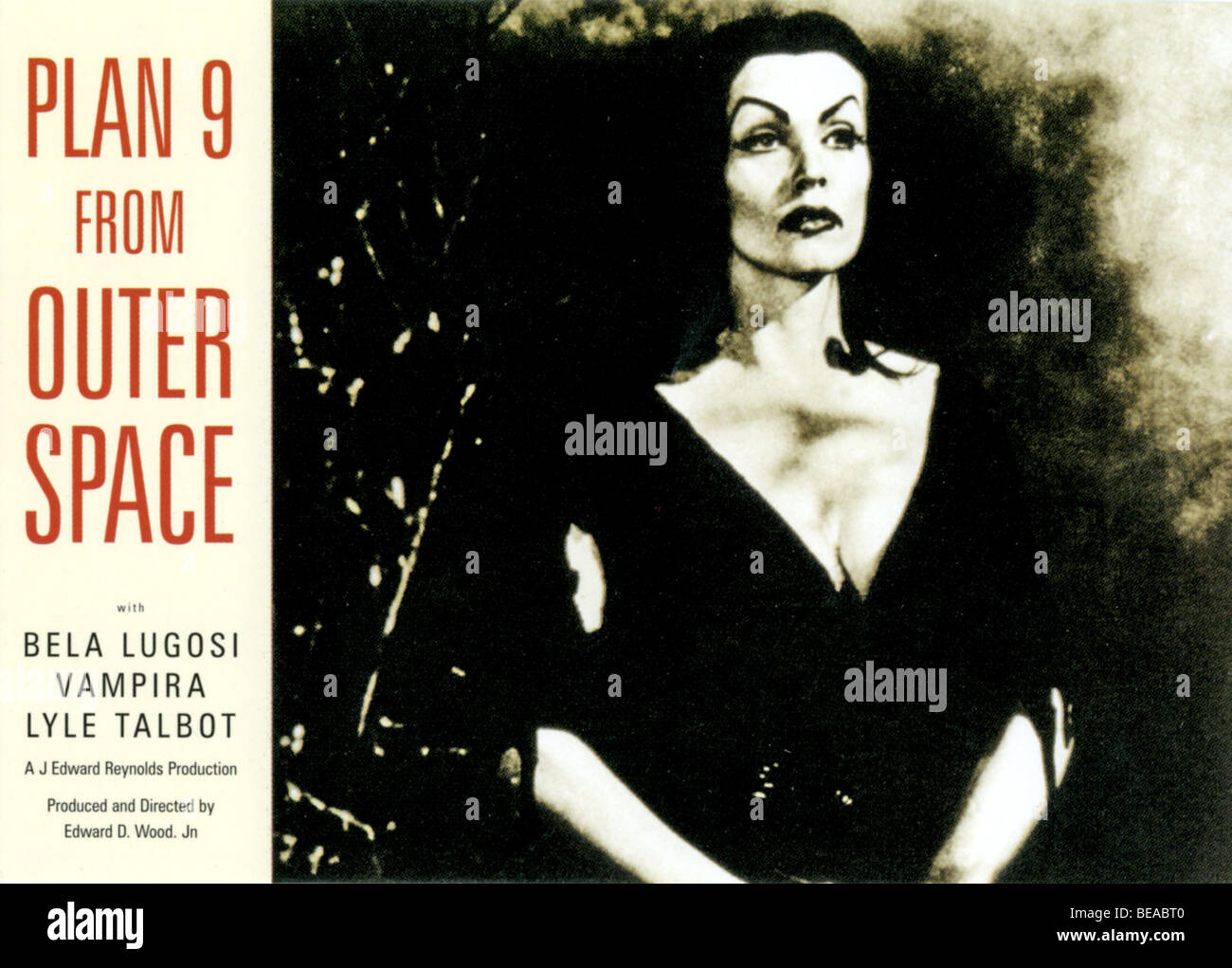 PLAN 9 FROM OUTER SPACE - 1958 Wade Williams film - Stock Image