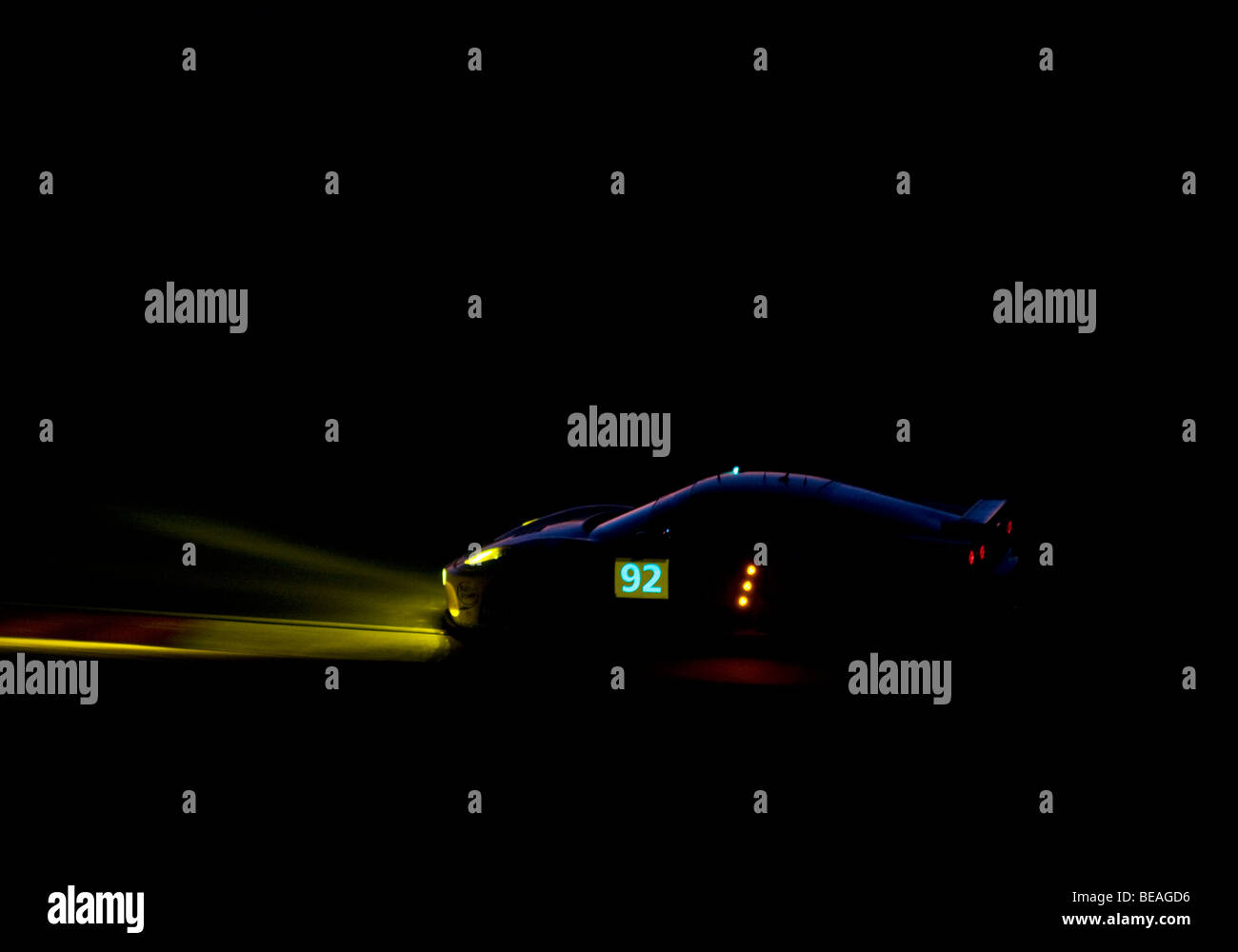 The Le Mans Series 1000km of the Algarve taking place during the night at the Autódromo Internacional do Algarve, Stock Photo