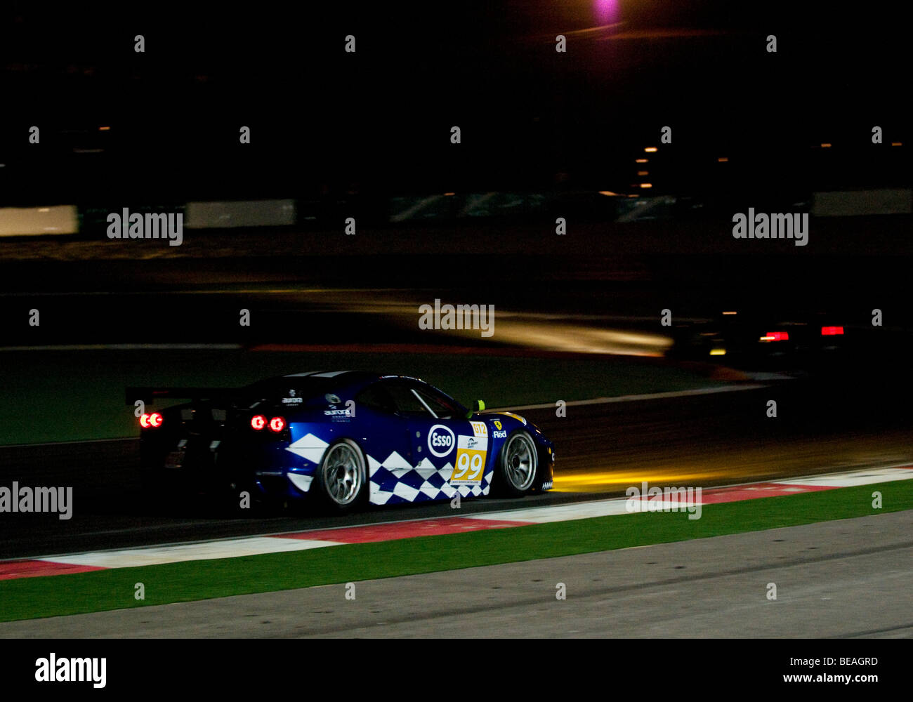The Le Mans Series 1000km of the Algarve taking place during the night at the Autódromo Internacional do Algarve, Stock Photo