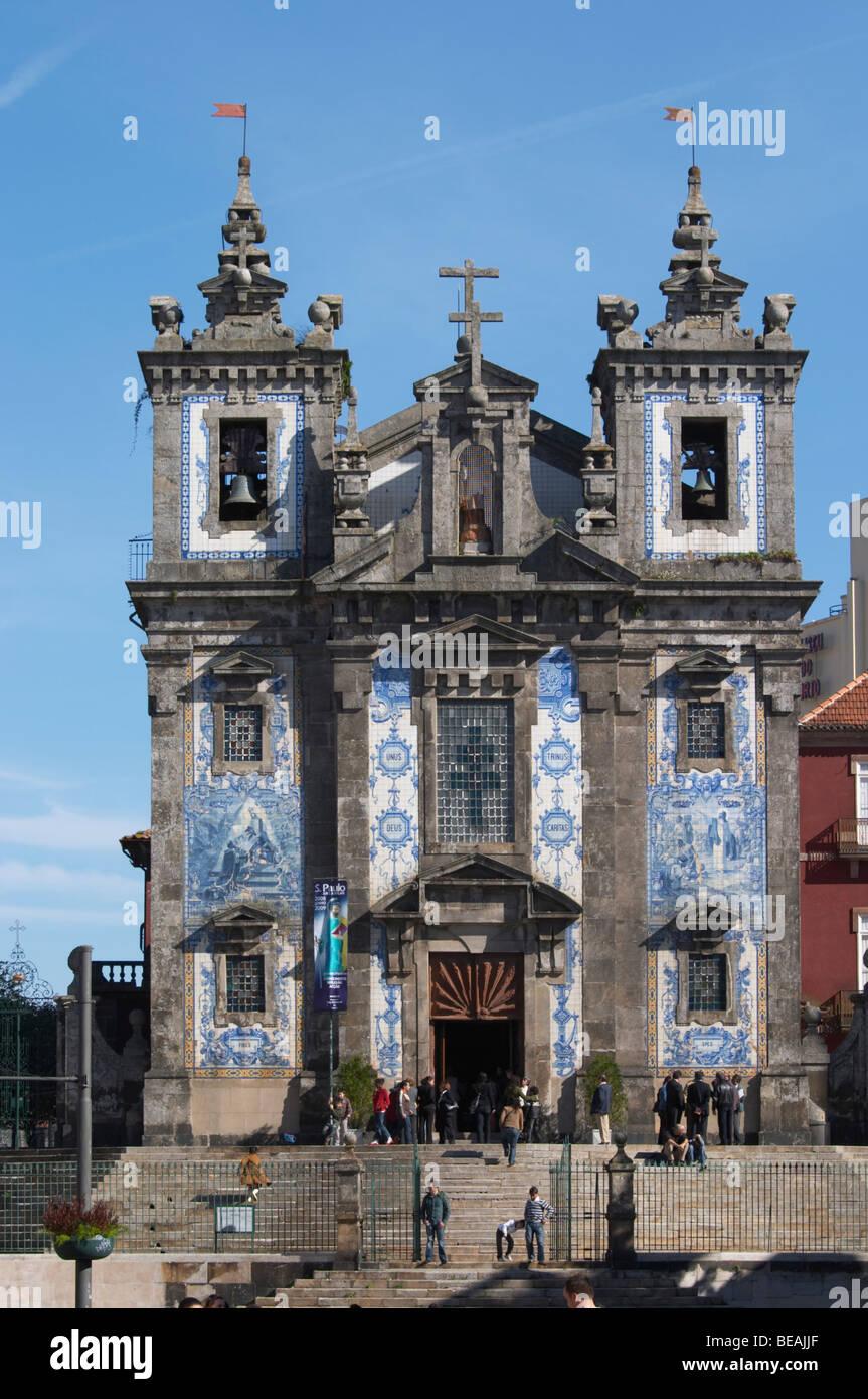 igreja de santo ildefonso church porto portugal - Stock Image