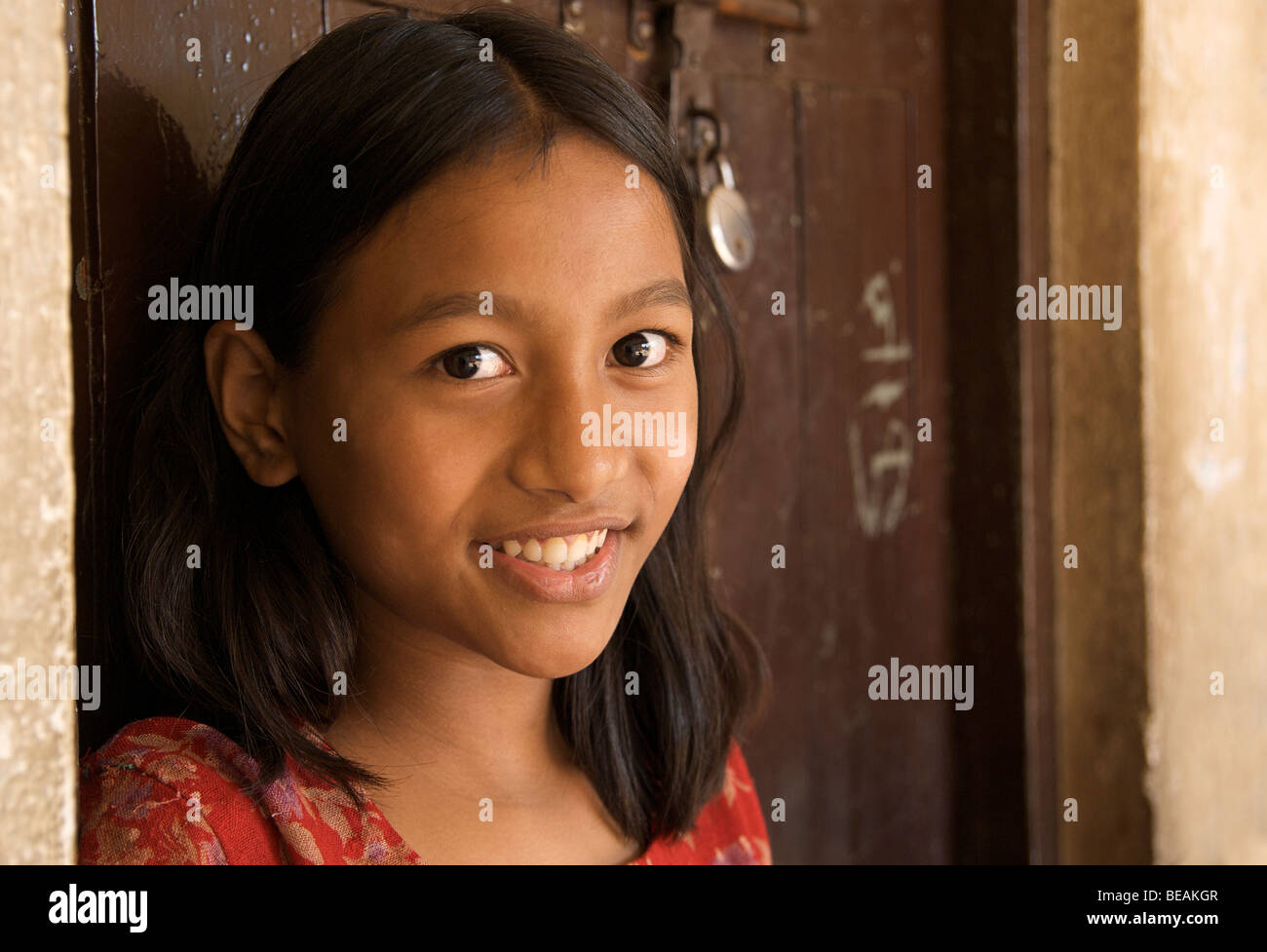 Portrait of a Nepalese, Katmandhu, Nepal - Stock Image