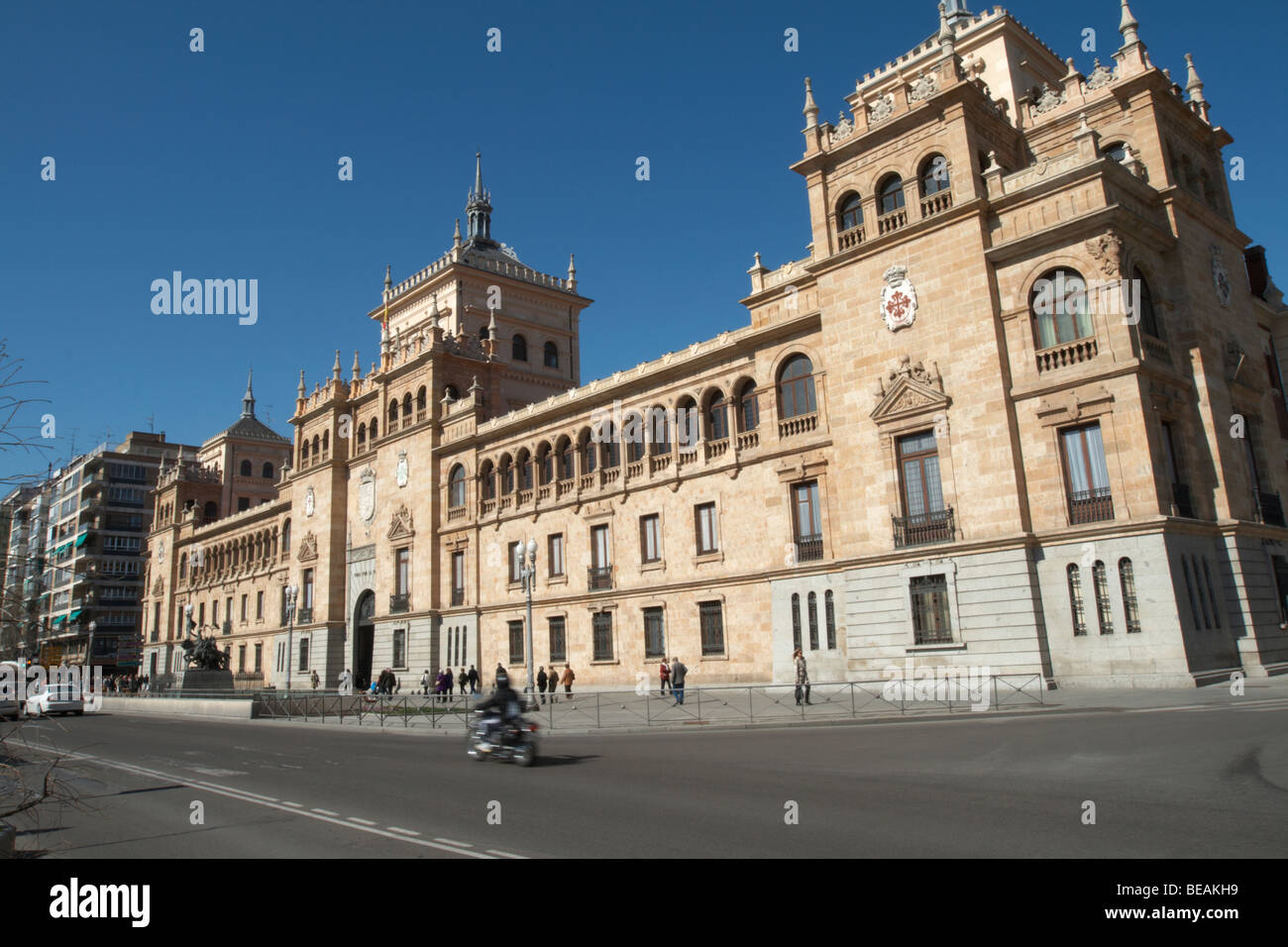 plaza zorilla academia de caballeria Valladolid spain castile and leon - Stock Image