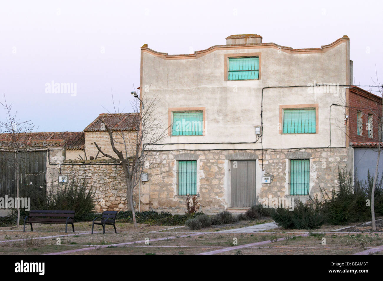 an old house, Valoria la Buena spain castile and leon - Stock Image