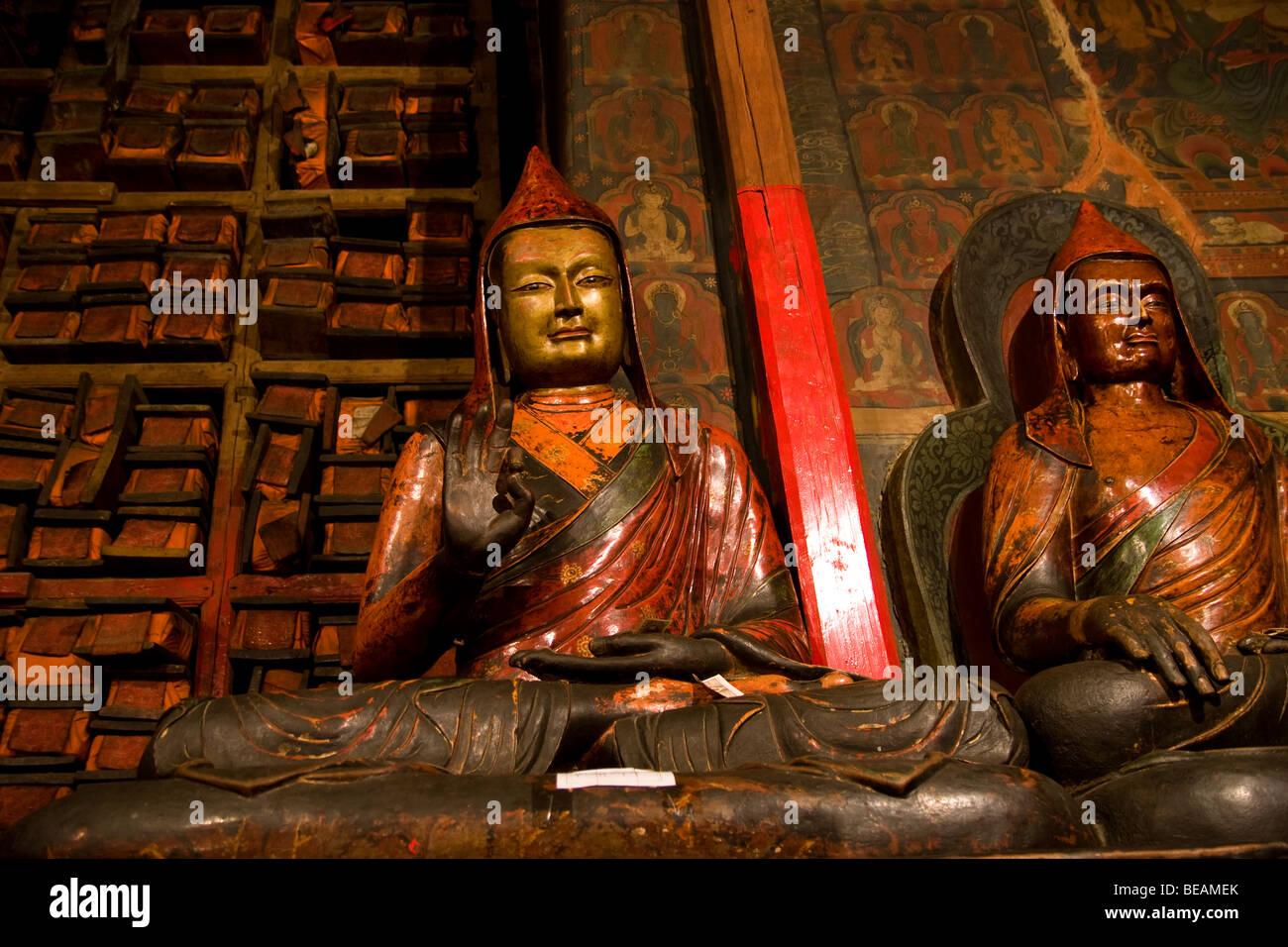Sakya protectors, Pelkhor Chode Temple Complex, Gyantse, Tibet, China - Stock Image