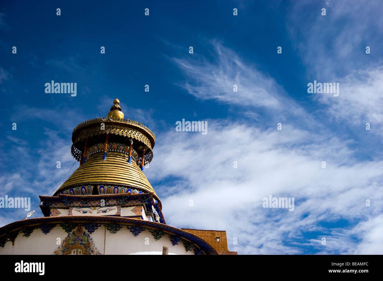 Kumbum stupa, Pelkhor Chode Temple Complex, Gyantse, Tibet, China - Stock Image