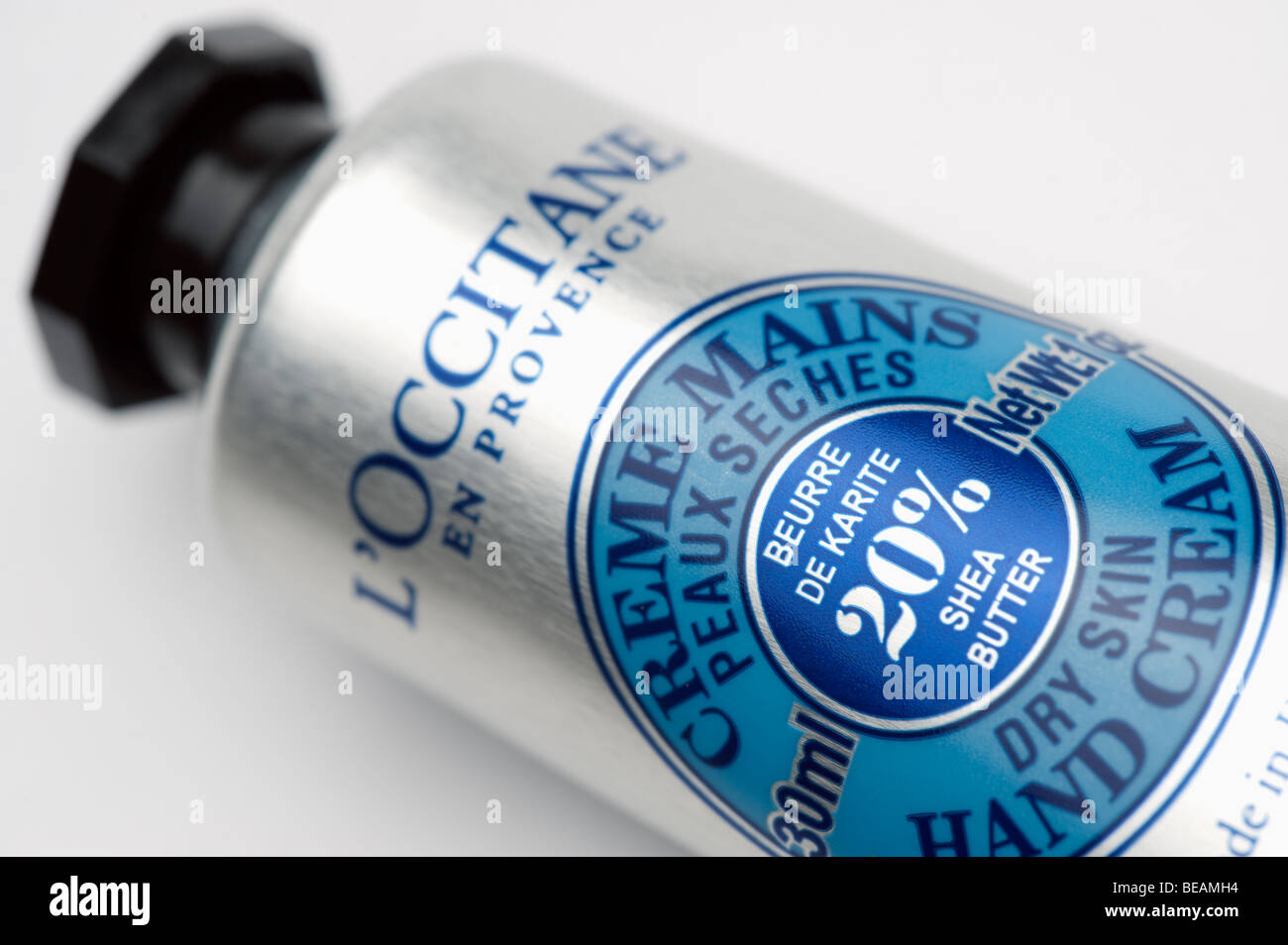 Tube of L'Occitane  dry skin Hand Cream Stock Photo