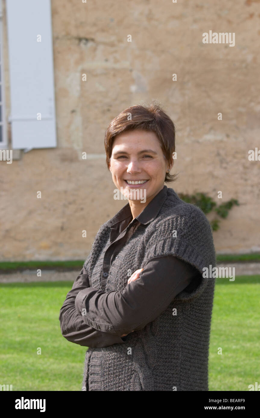 Sandrine Garbay, chief winemaker chateau d'yquem sauternes bordeaux france - Stock Image