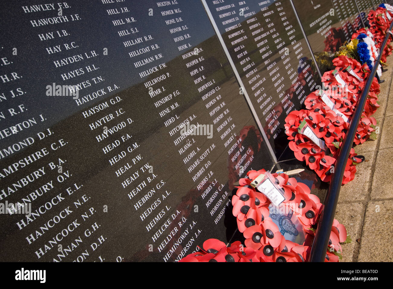 Battle of Britain Memorial at Capel-le-Ferne Kent - Stock Image