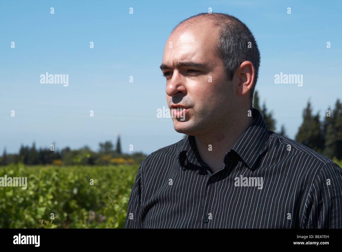 Frederic Sablayrolle, winemaker cellier des chartreux rhone france - Stock Image