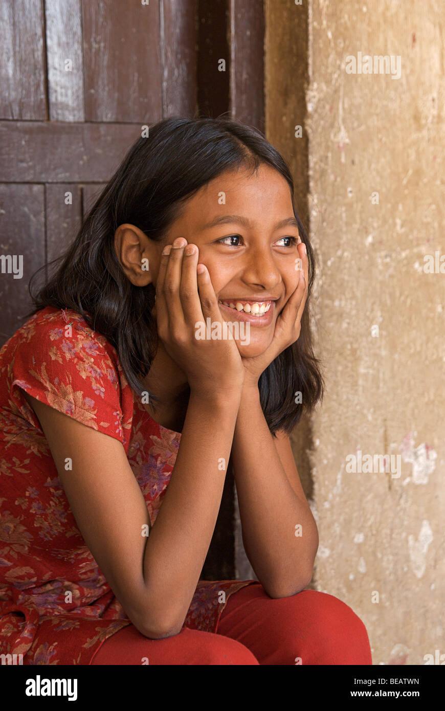 Portrait of a Nepalese, Kathmandhu, Nepal - Stock Image