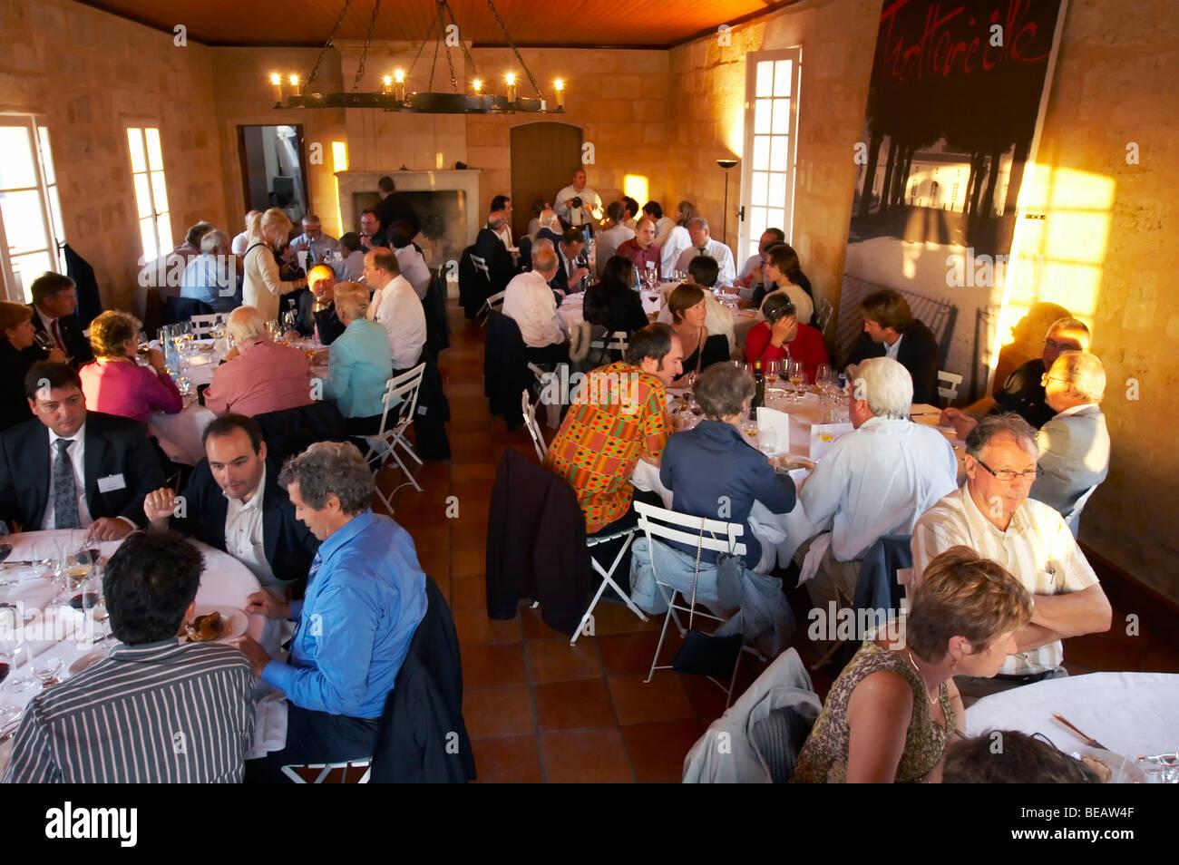 gala dinner at citadelles du vin wine competition bourg bordeaux france Stock Photo