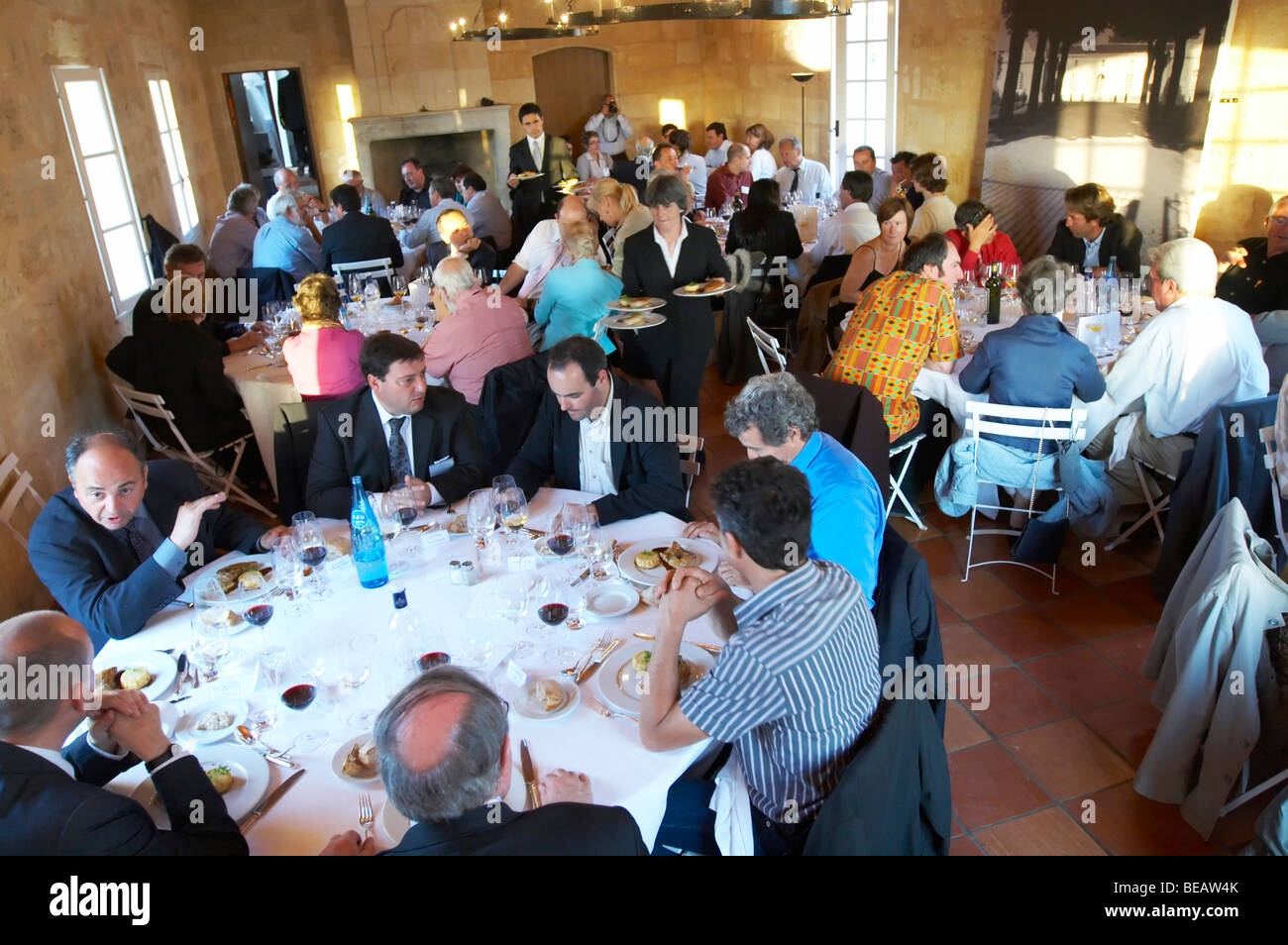 gala dinner at citadelles du vin wine competition bourg bordeaux france Stock Photo