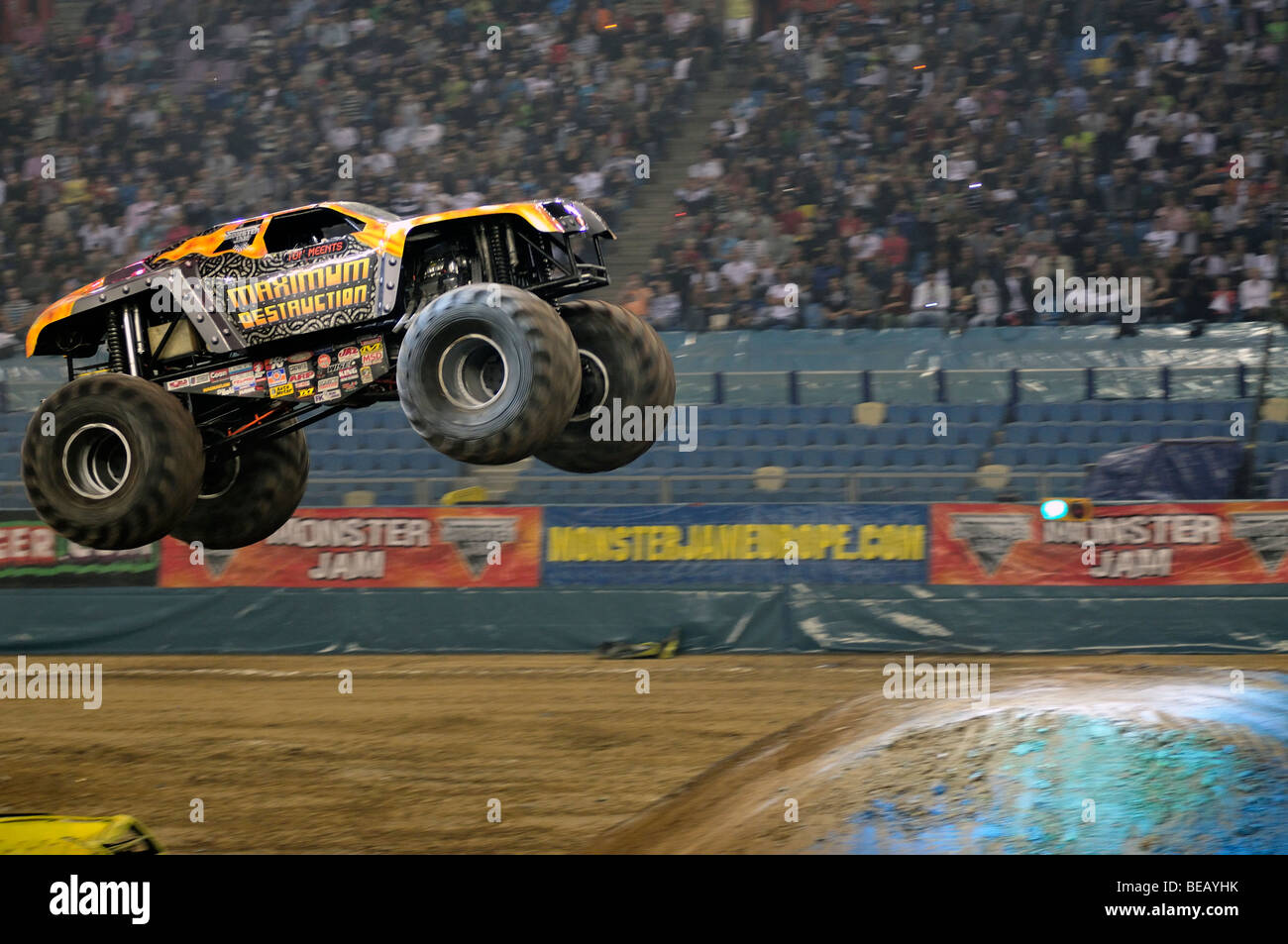 Monster Jam Maximum Distruction with Tom Meents Driver - Stock Image