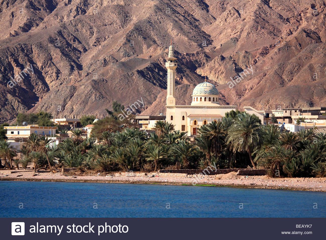 Egypt, Nuweiba, mosque. - Stock Image