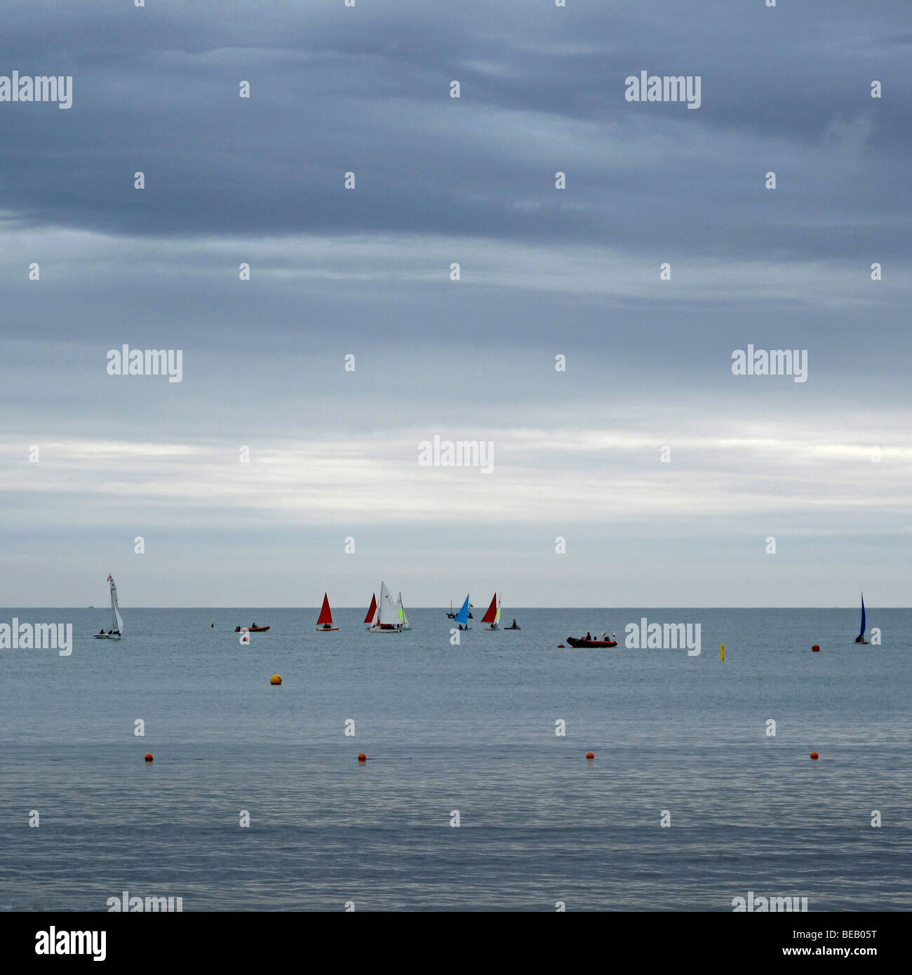 Sailing Boats, Lyme Regis, Dorset, UK Stock Photo