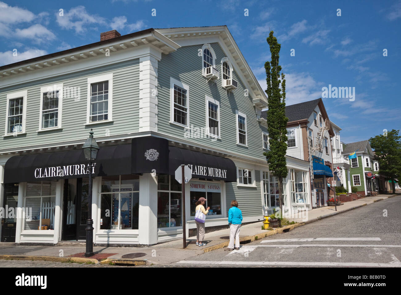 shopping street in newport rhode stock photos shopping street in newport rhode stock images. Black Bedroom Furniture Sets. Home Design Ideas