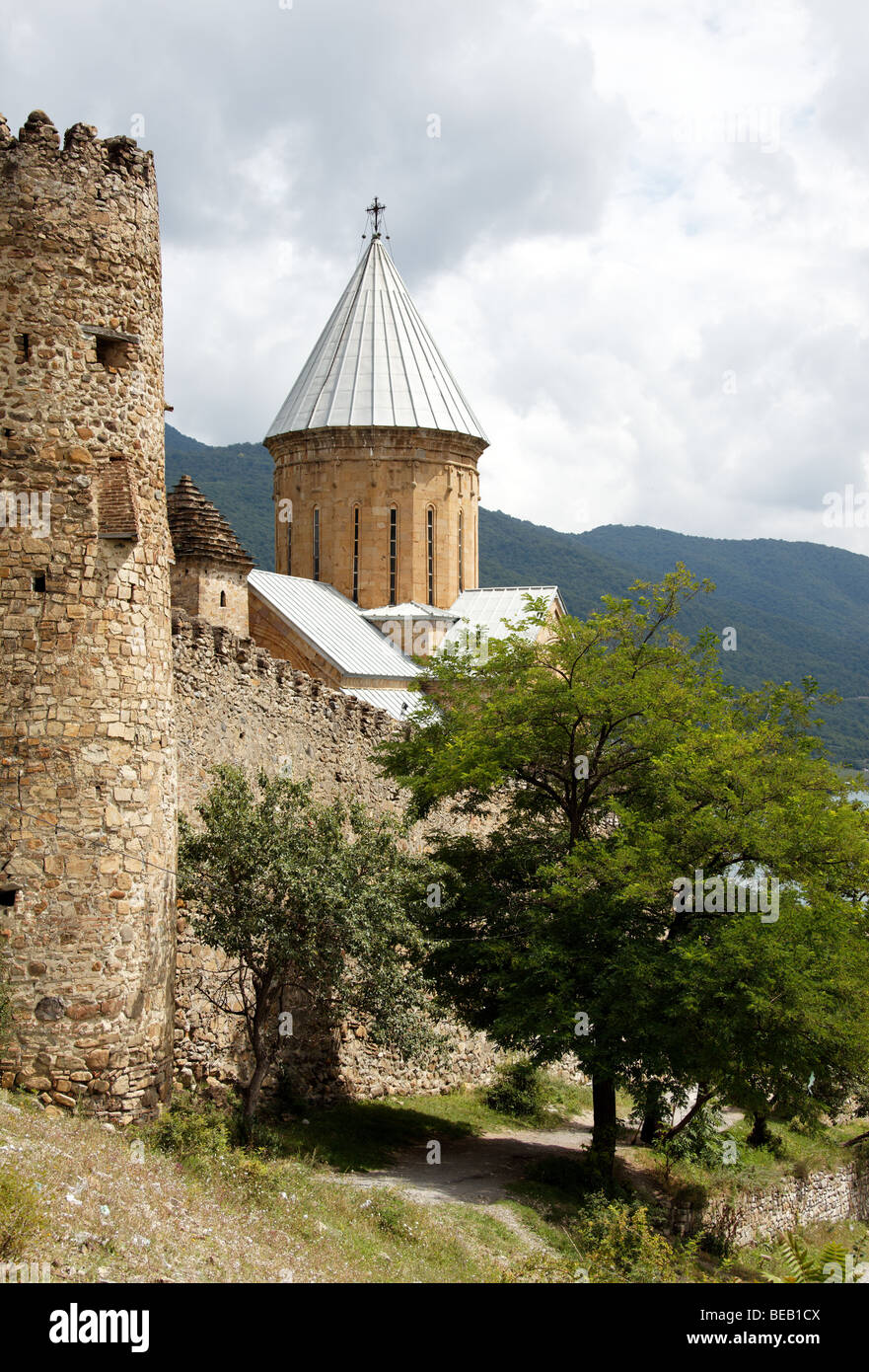 17th century fortress on the bank of the Aragvi River (Georgia), tentatively listed as a UNESCO World Heritage Site - Stock Image