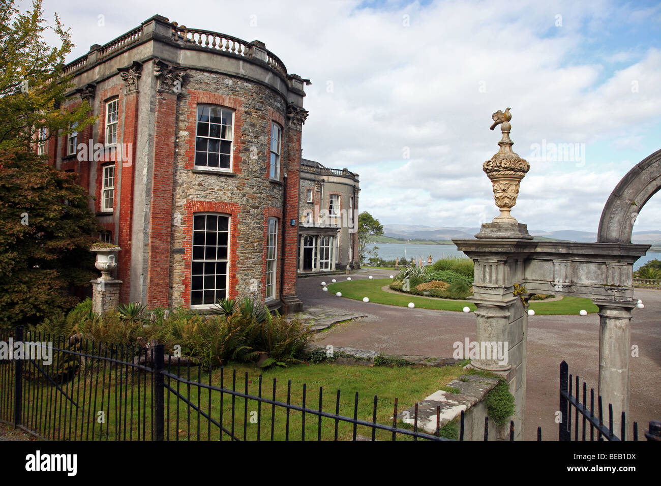 Bantry House, Irish stately home overlooking Bantry Bay, West Cork - Stock Image