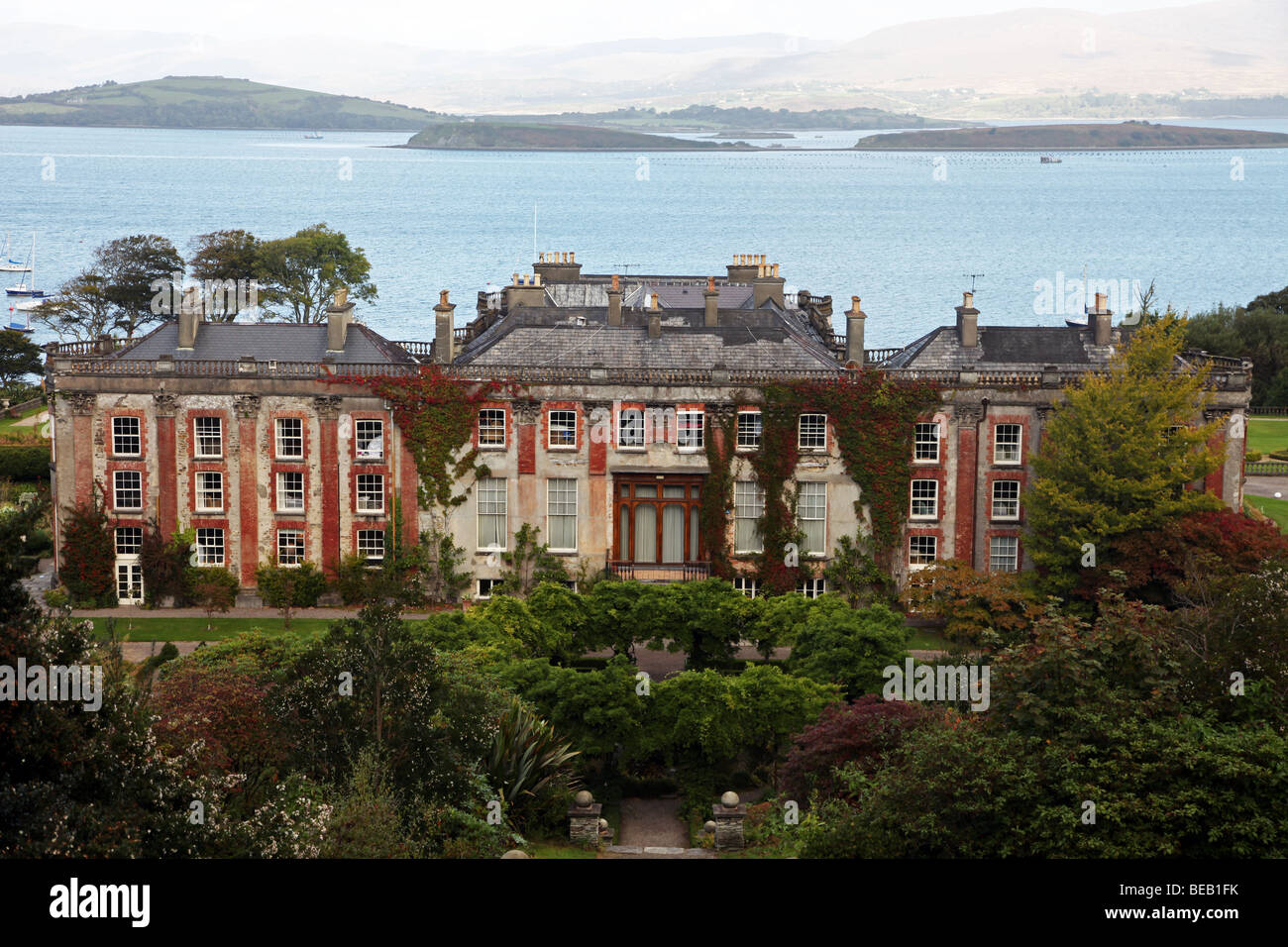 Bantry House, Irish stately home, Bantry Bay, West Cork, Ireland - Stock Image