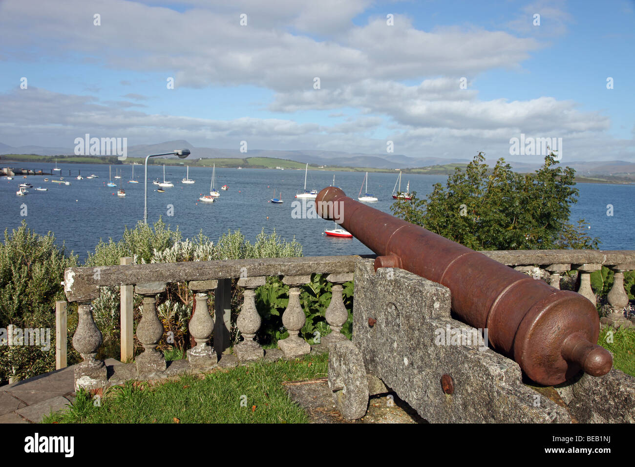 Bantry House Cannon, Bantry Bay, West Cork, Ireland - Stock Image