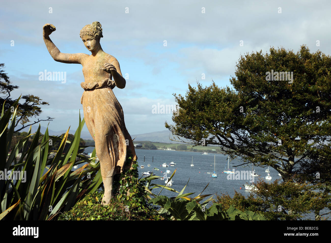 statuary in gardens of Bantry House, Bantry Bay, West Cork, Ireland - Stock Image