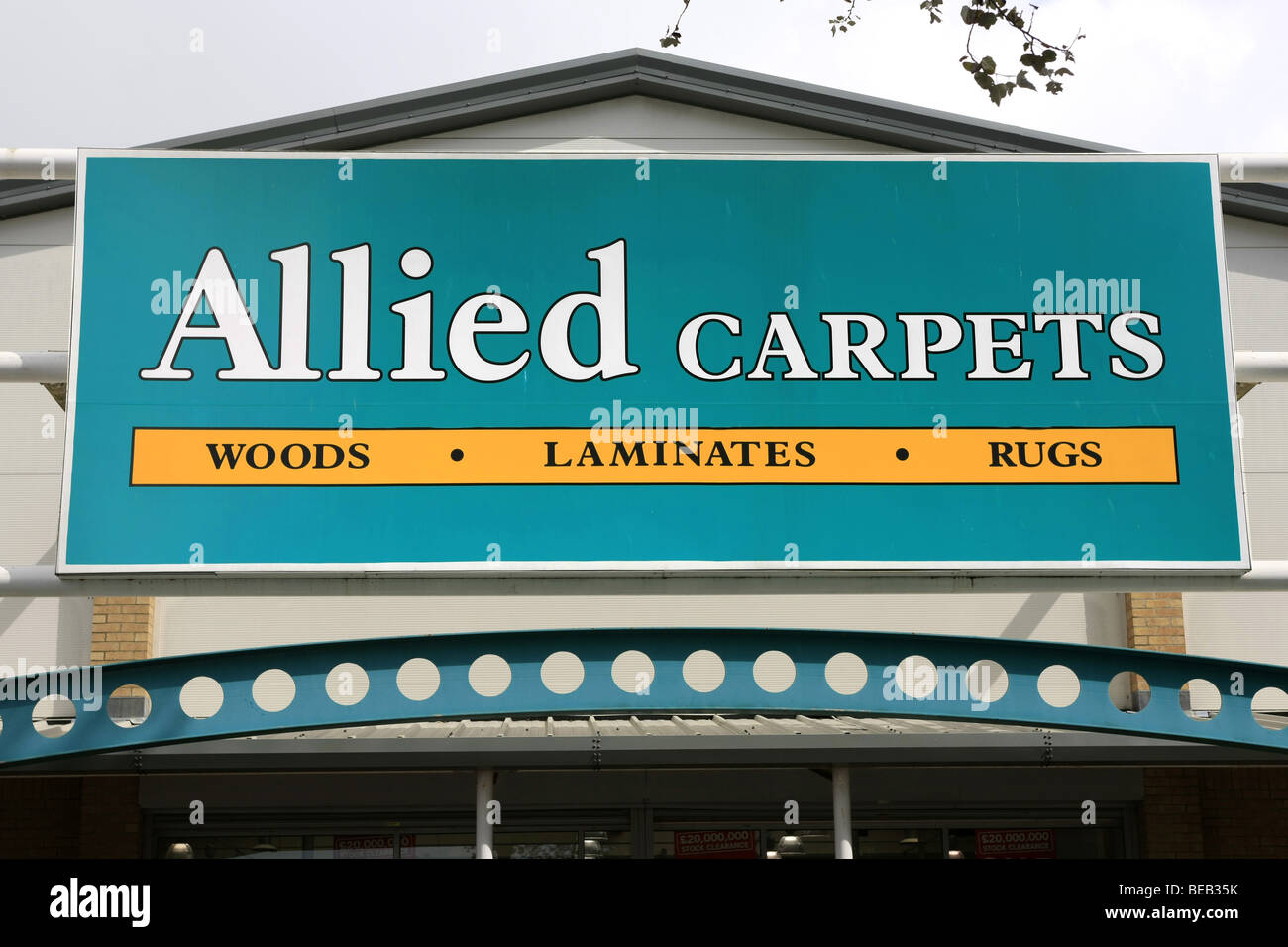 Allied Carpets Flooring sign - Stock Image
