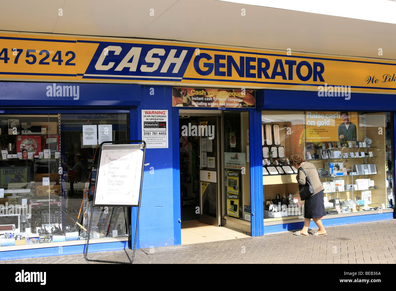 cash generator pawn shop and sign BEB36A