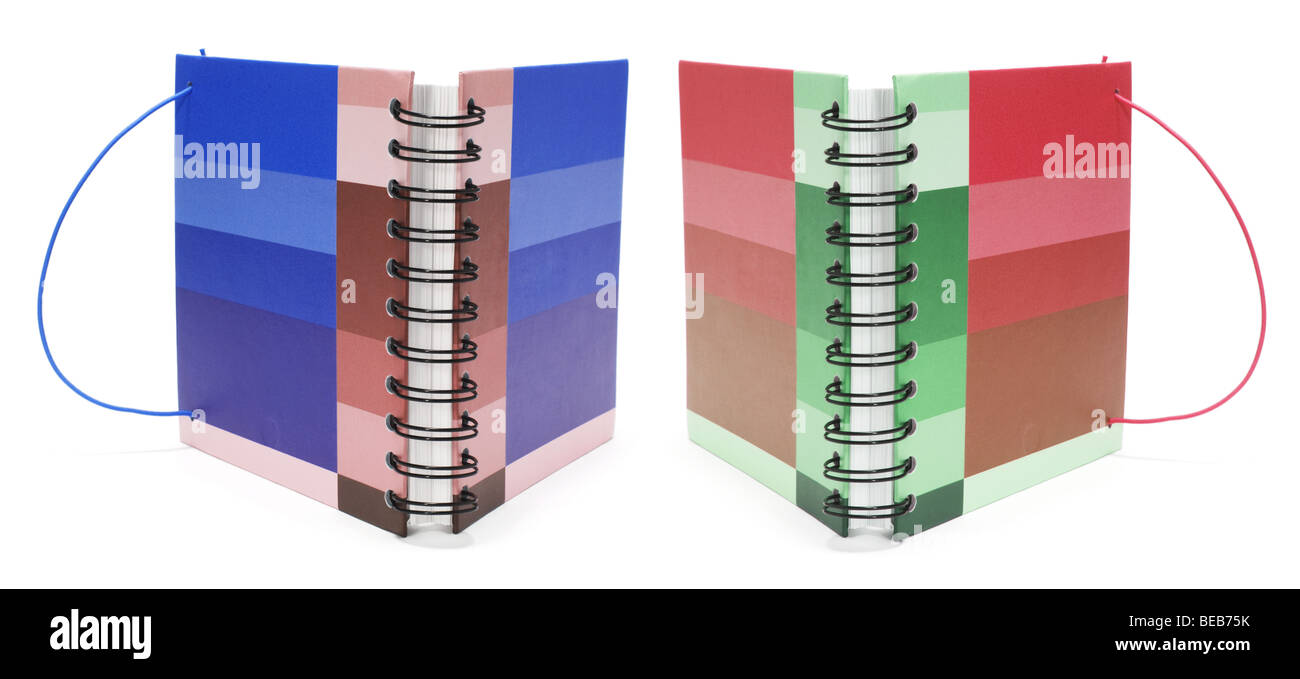 Diaries - Stock Image