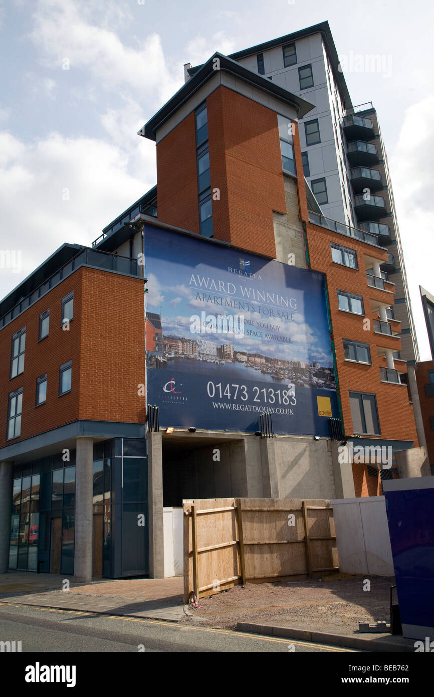 Apartments For Rent And Sale Wet Dock Redevelopment Ipswich Stock