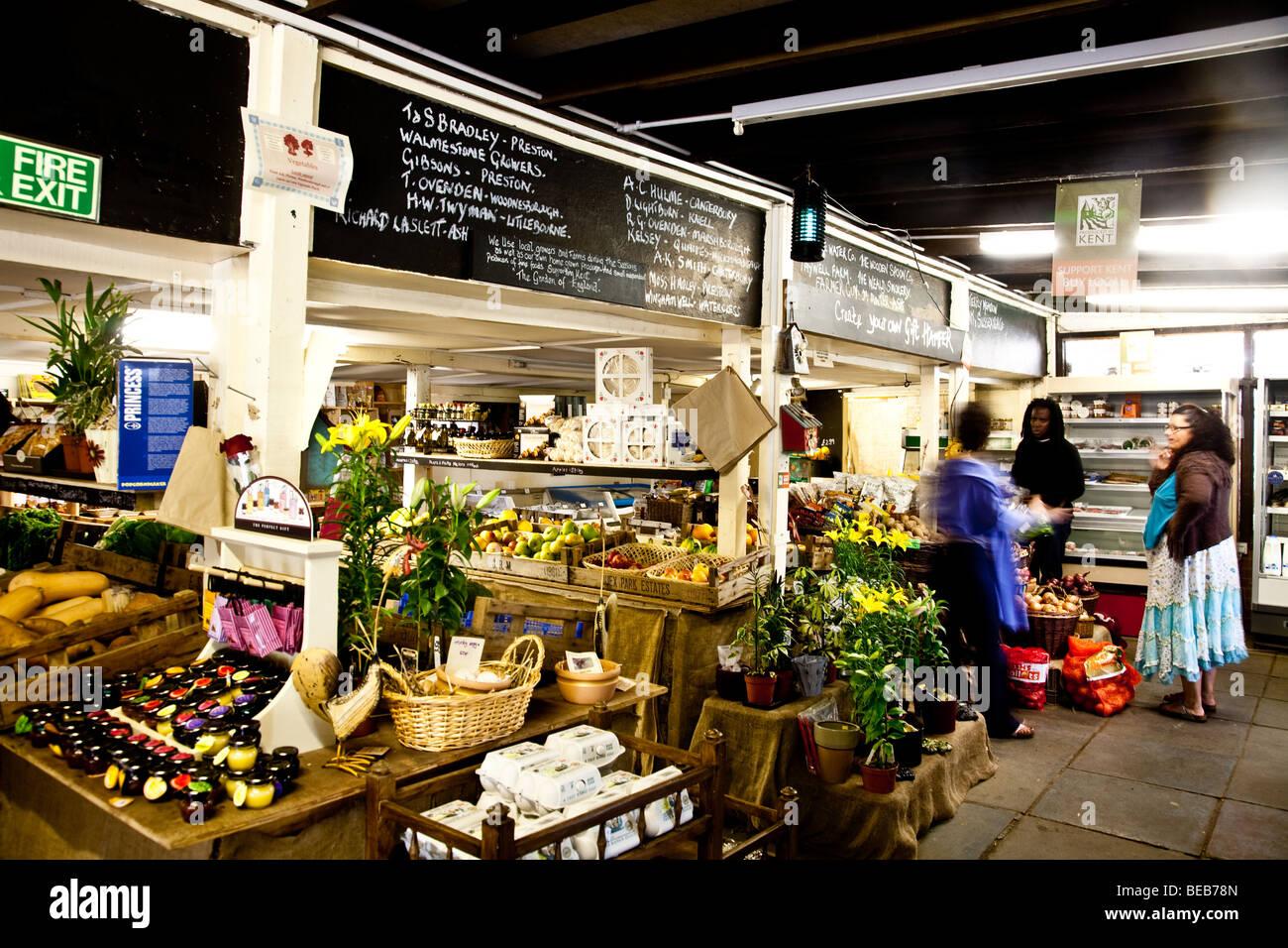 Farm shop in kent - Stock Image