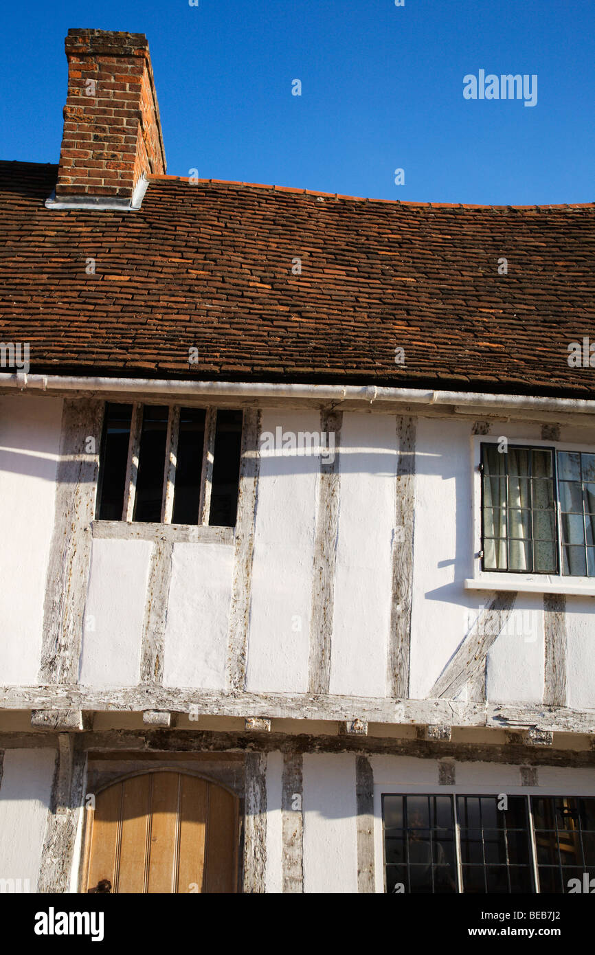 Half Timbered Building Lavenham Suffolk England - Stock Image