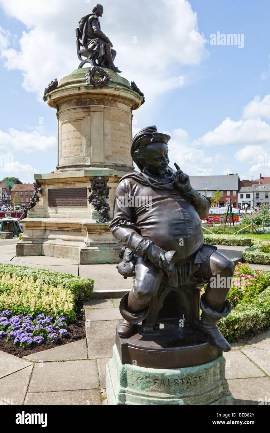 Statue of Falstaff at Stratford upon Avon, Warwickshire - Stock Image