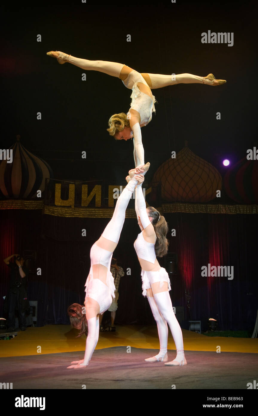 Moscow state Circus in Edinburgh, Scotland, UK Stock Photo