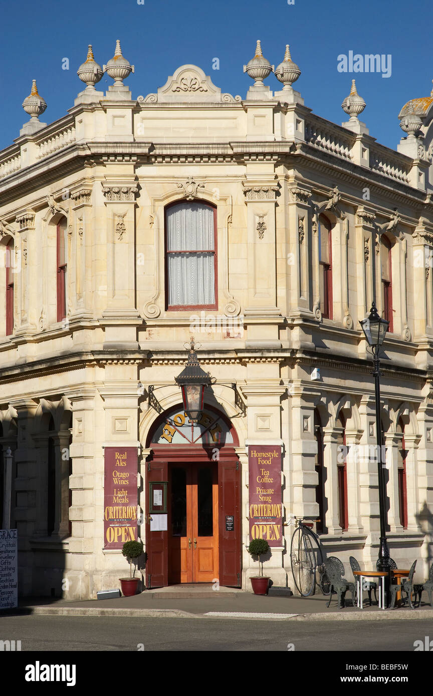 Historical Criterion Hotel, Oamaru, South Island, New Zealand - Stock Image