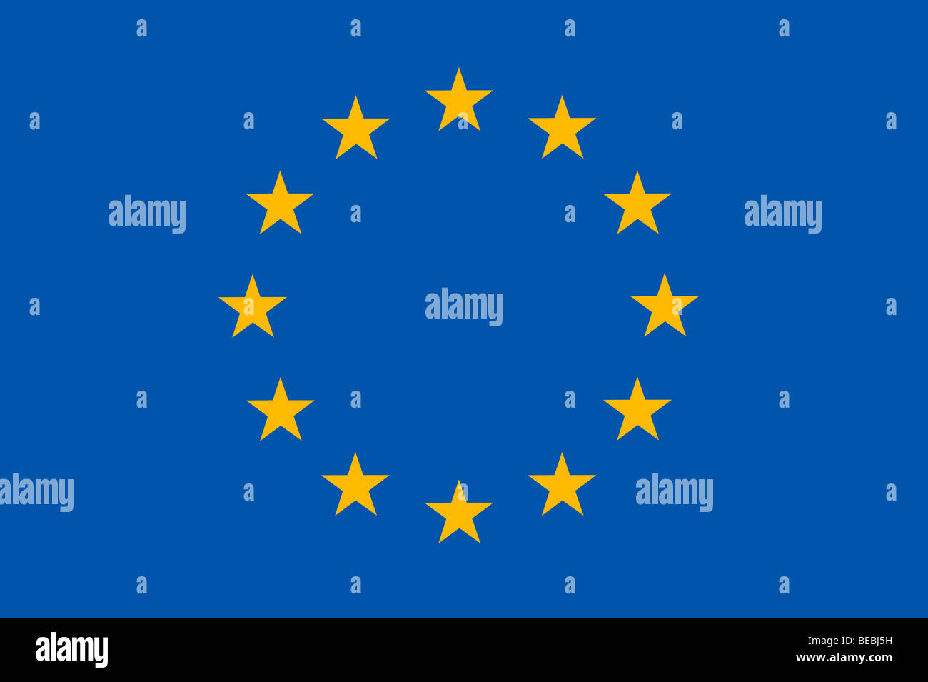 European union flag illustration - Stock Image