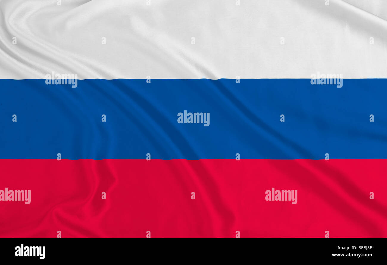 Russian Federation flag - Stock Image