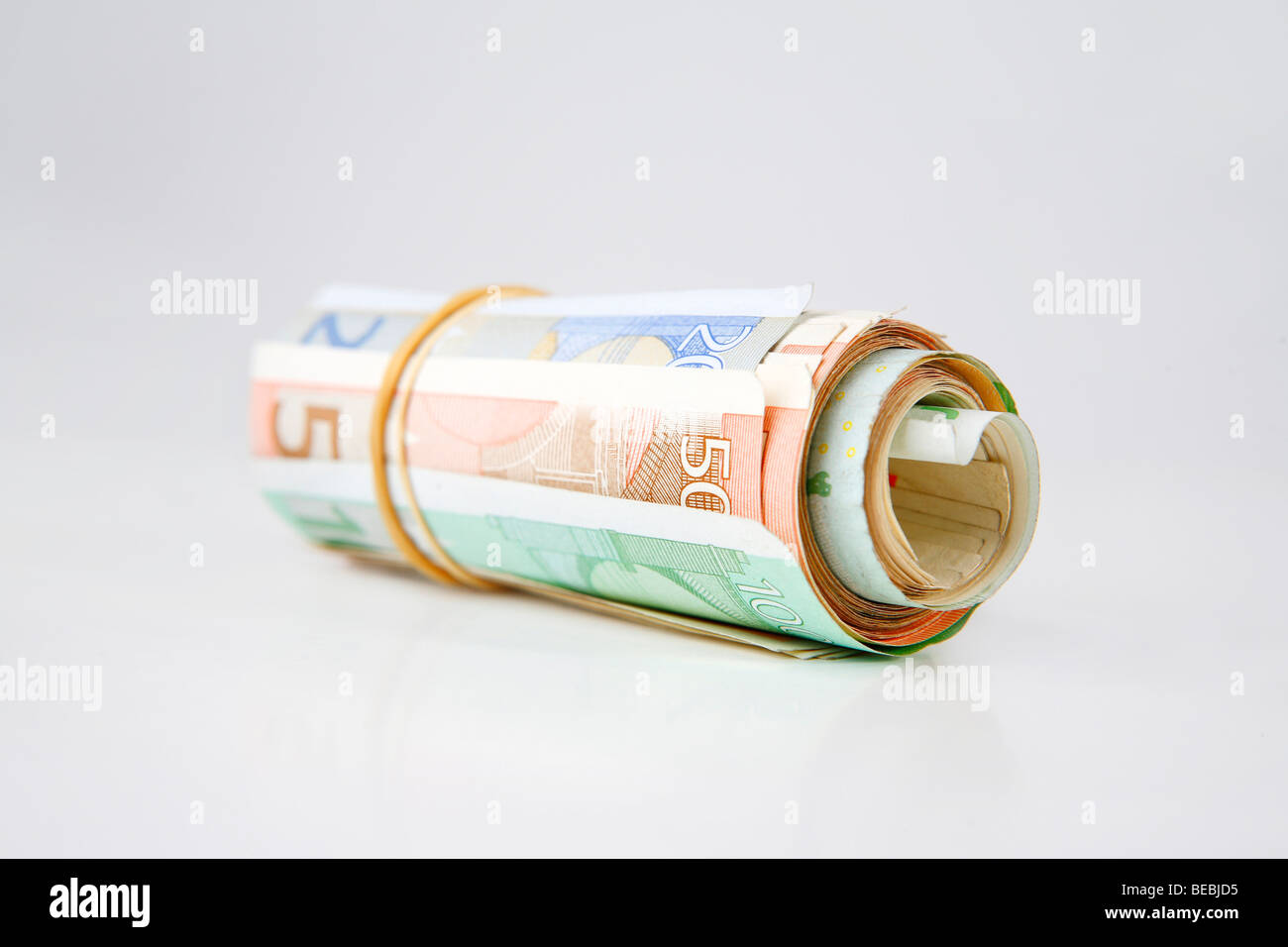 Wad of banknotes - Stock Image