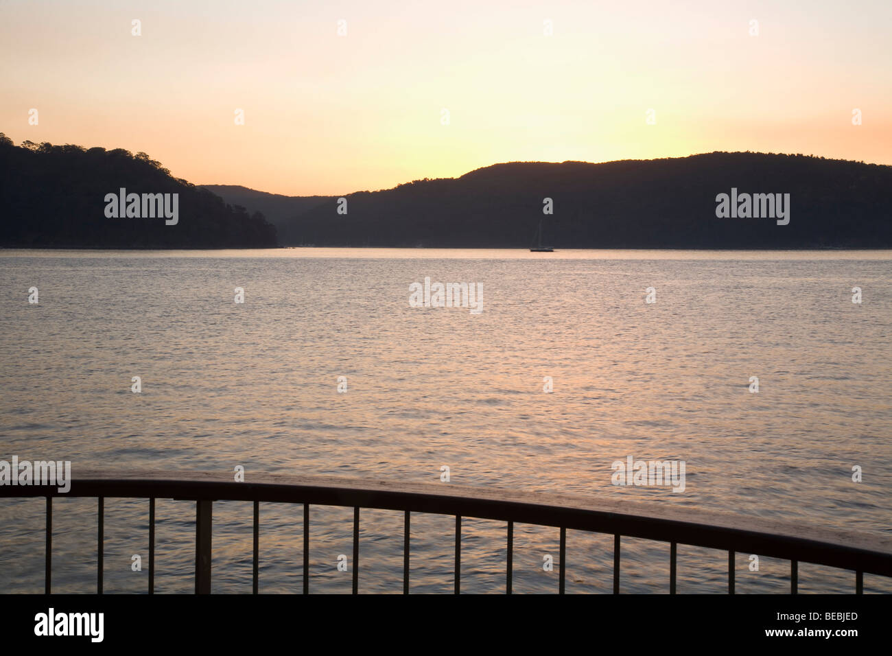 View of Pittwater from Palm Beach New South Wales Australia - Stock Image