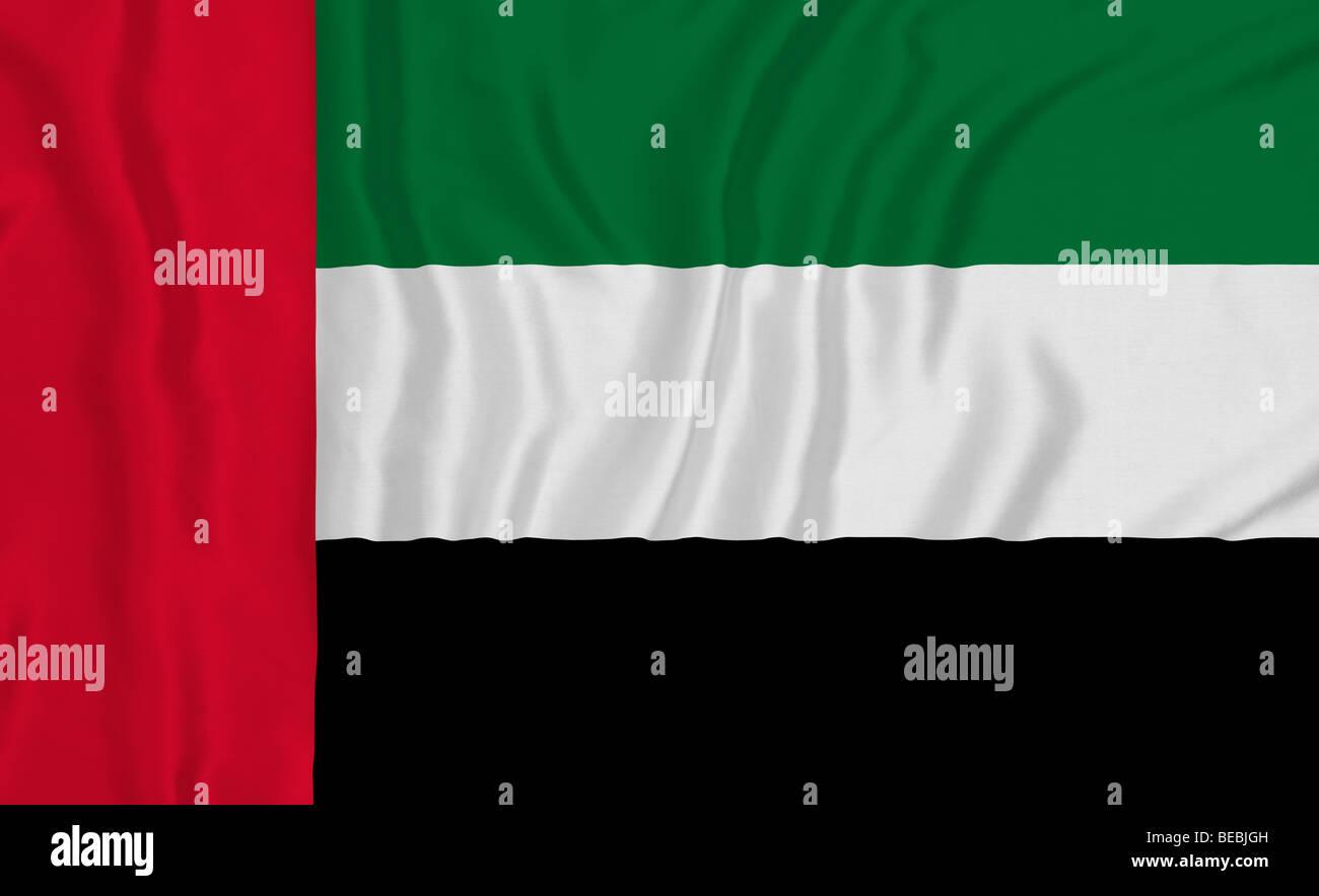 Rippled United Arab Emirates flag - Stock Image