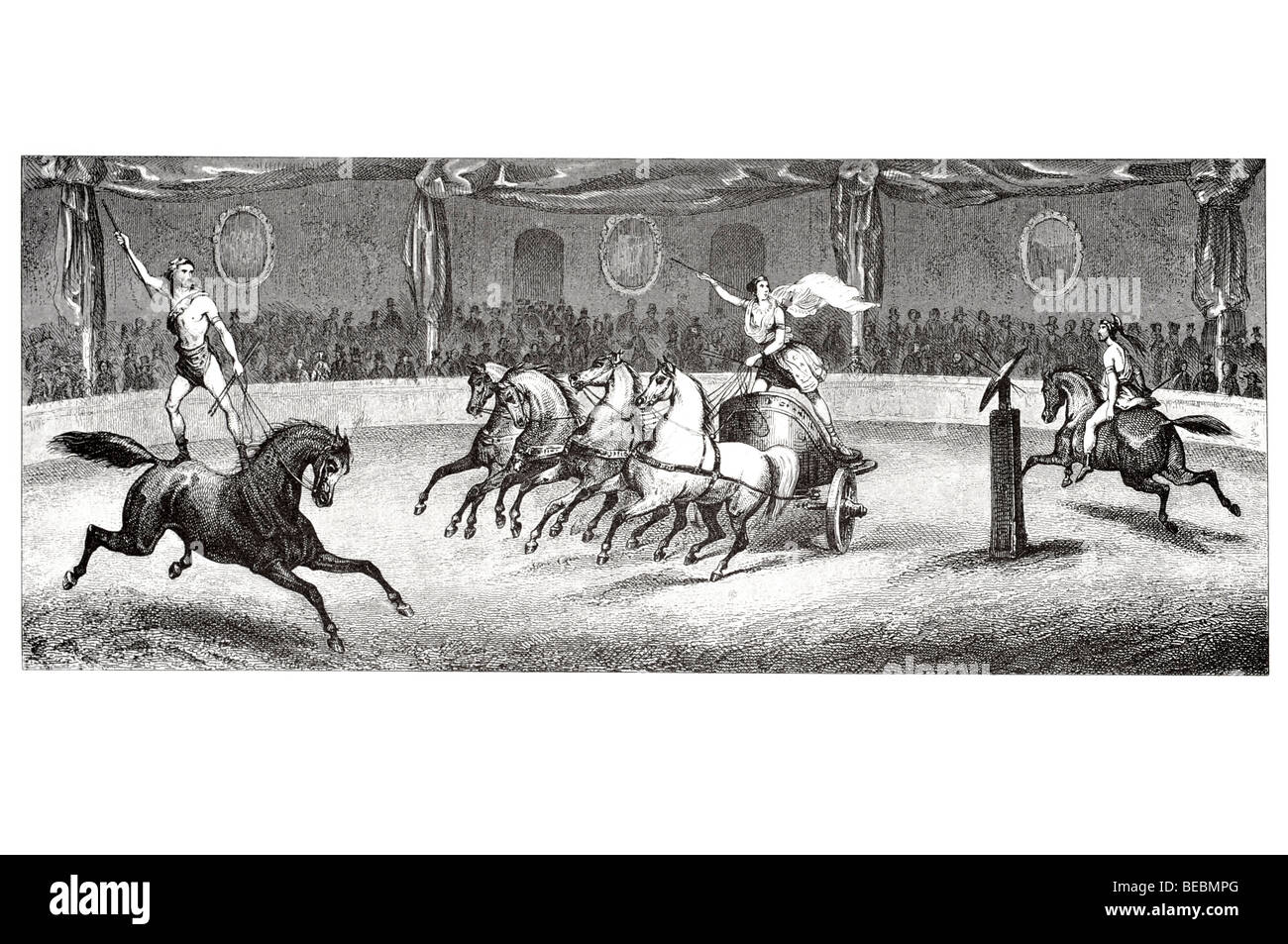 equestrian feats - Stock Image