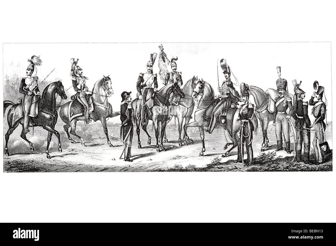 french cavalry - Stock Image
