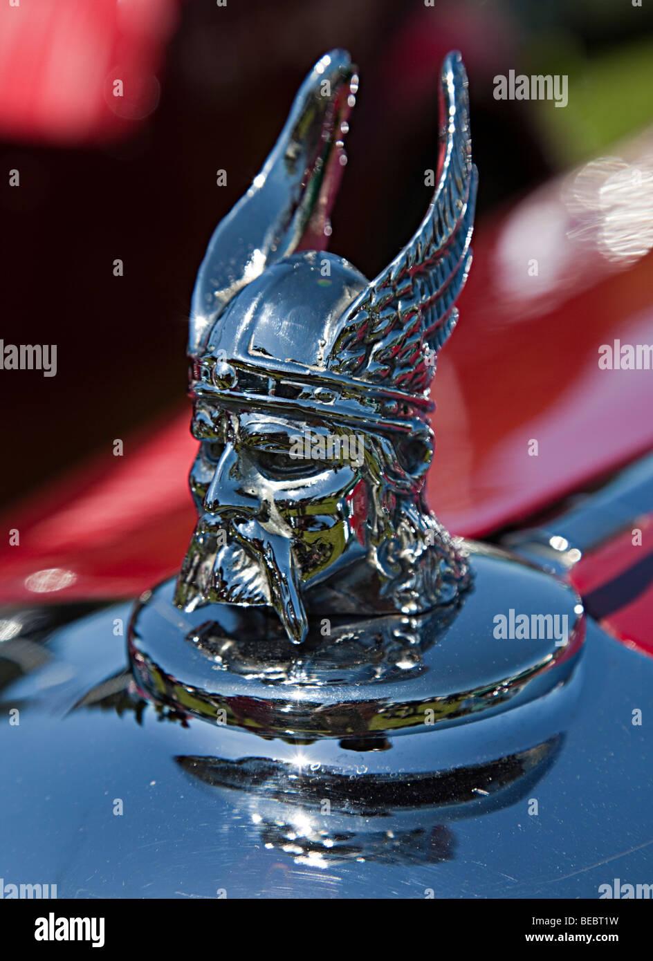 Rover car classic Viking hood ornament UK - Stock Image