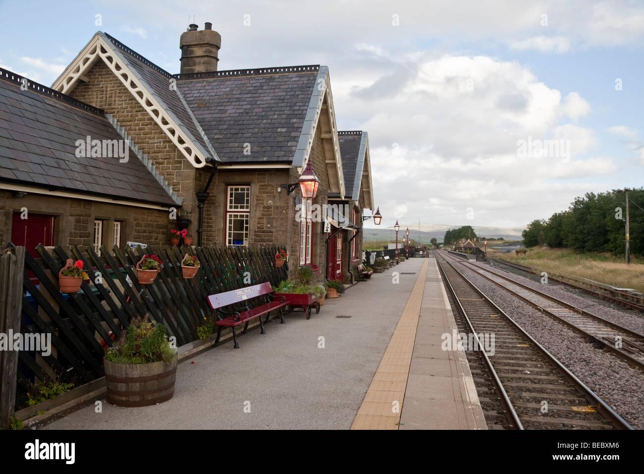 Ribblehead station, North Yorkshire, England, UK Railway Station, on the Settle-Carlisle railway line - Stock Image