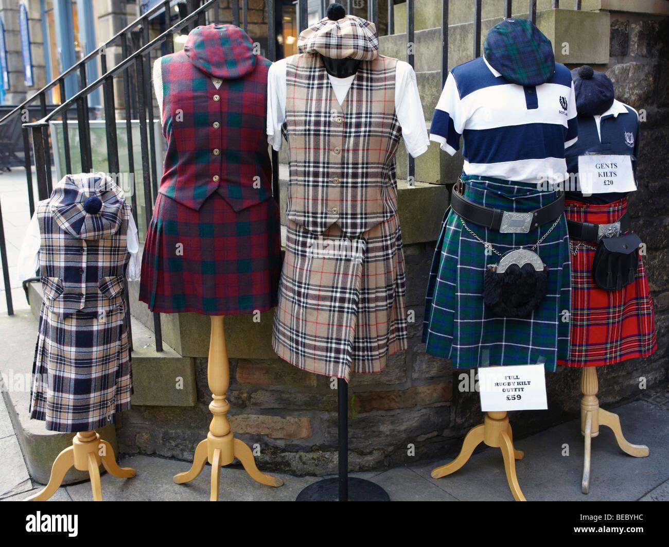 Tartan Shop Edinburgh Scotland UK Stock Photo: 26078680 - Alamy