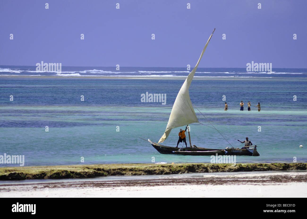 Diani Beach Kenya Africa - Stock Image
