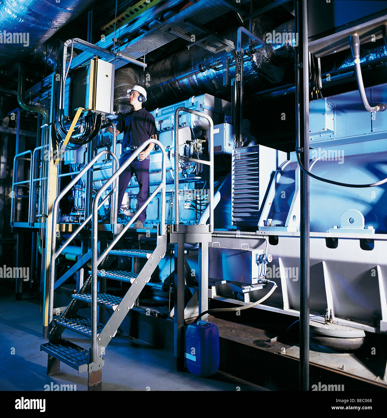 Industrial Building Plant Room Boilers Stock Photos & Industrial ...